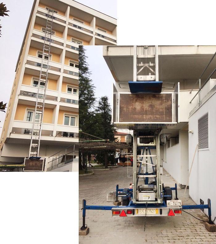 Noleggio scale di ad traslochi scale e montacarichi per - Materiali per mobili ...